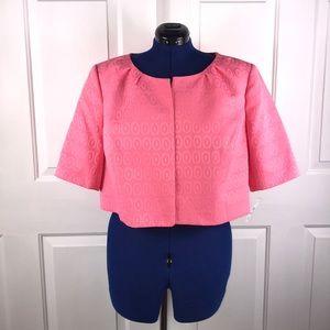 NWT Nipon Boutique 18W retro coral cropped jacket